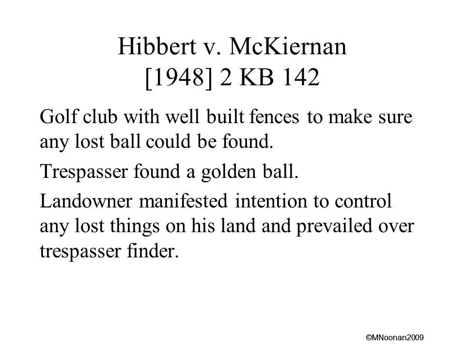 Hibbert v. McKiernan [1948] 2 KB 142